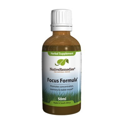 focus formula in a glass bottle